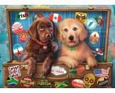 Puzzle Kutyák útközben - GYEREK PUZZLE