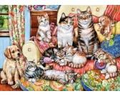 Puzzle Macska család - GYEREK PUZZLE