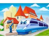 Puzzle Vasútállomás - MAXI PUZZLE