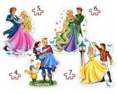 Puzzle Táncoló hercegnők - GYEREK PUZZLE