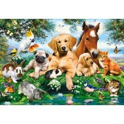 Puzzle Állat barátok