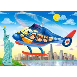 Puzzle Helikopter New Yorkban - GYEREK PUZZLE