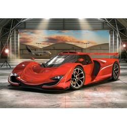Puzzle Piros autó a hangárban - GYEREK PUZZLE