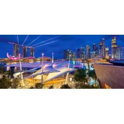 Puzzle Kikötő Szingapúrban - PANORAMATIKUS PUZZLE