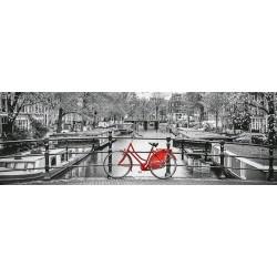 Puzzle Kerékpár Amszterdamban - PANORAMATIKUS PUZZLE