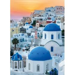 Puzzle Santorini naplementében