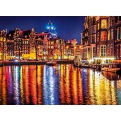Puzzle Amszterdam fényei