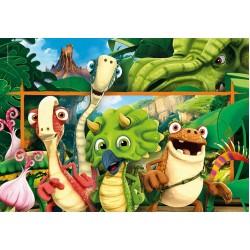 Puzzle Vidám dinoszauruszok - GYEREK PUZZLE