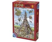 Puzzle Az Eiffel torony építése