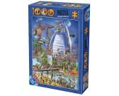 Puzzle A Burj al Arab építése