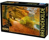 Puzzle Erdei ösvény ősszel