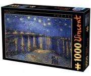 Puzzle Csillagos ég a folyó felett