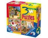 Puzzle Jancsi és Juliska, Hófehérke, Pinokio - MÁGNESES PUZZLE