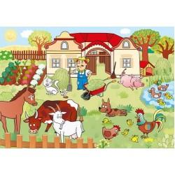 Puzzle Állatok a gazdaságban - GYEREK PUZZLE