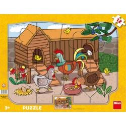 Puzzle Tyúkok - GYEREK PUZZLE