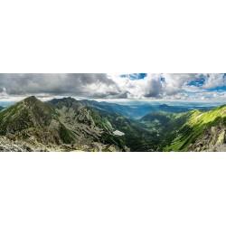 Puzzle Magasan a hegyekben - PANORAMATIKUS PUZZLE