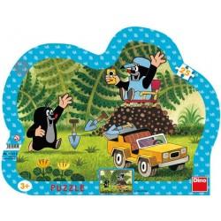 Puzzle Kisvakond és a sárga autó - GYEREK PUZZLE
