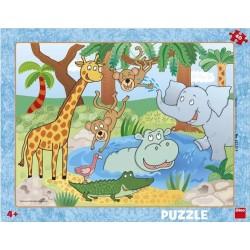 Puzzle Állatok az állatkertben - GYEREK PUZZLE