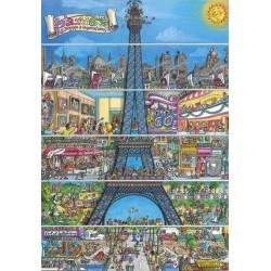 Puzzle Rajzolt Eiffel-torony