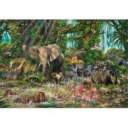 Puzzle Afrikai dzsungel