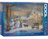 Puzzle Hóember építése