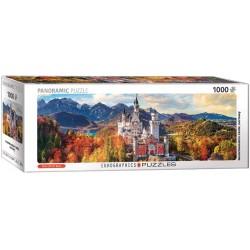 Puzzle Kilátás Neuschwansteinre - PANORAMATIKUS PUZZLE