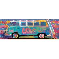Puzzle Volkswagen busz - PANORAMATIKUS PUZZLE