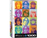 Puzzle John Lennon - színes portrétok