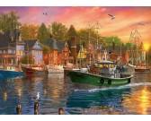 Puzzle Naplemente a kikötőben