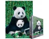 Puzzle Panda kispandával