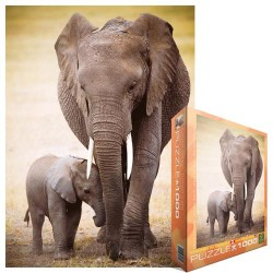 Puzzle Elefánt kiselefántal