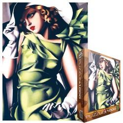 Puzzle Nő zöldben