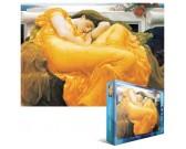 Puzzle Nő narancssárgában