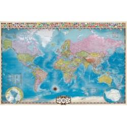 Puzzle Világtérkép pólusokkal