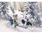 Puzzle Gyerekek a hóban