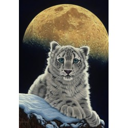 Puzzle Leopárd a holdfényben