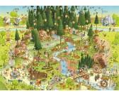 Puzzle Vidám Állatkert - Fekete erdő