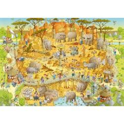 Puzzle Vidám Állatkert - Afrika