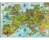Puzzle Európai unió sárkányok - TRIANGULAR PUZZLE