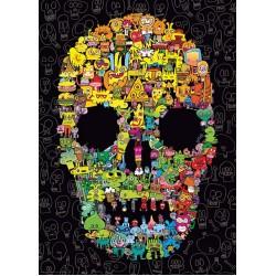 Puzzle Firkálások - koponya