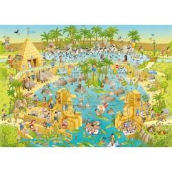 Puzzle Vidám állatkert - Níl expozíció