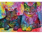 Puzzle Két elszánt cica