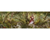 Puzzle Az erdő éneke - PANORAMATIKUS PUZZLE