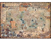 Puzzle Kalóz térkép
