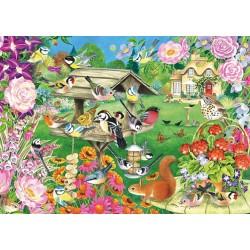 Puzzle Madarak a kertben