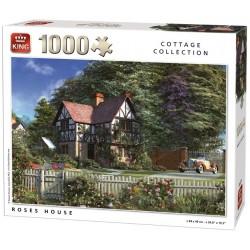 Puzzle Rózsákkal körülvett ház