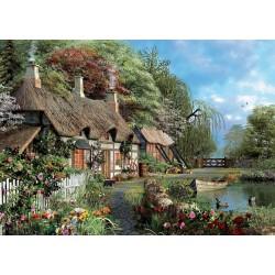 Puzzle Házikó a folyó mellett