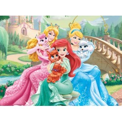 Puzzle Hercegnők kiskutyákkal - GYEREK PUZZLE