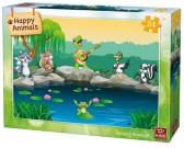 Puzzle Állatok a vízparton - GYEREK PUZZLE