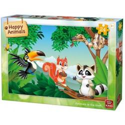 Puzzle Állatok a fán - GYEREK PUZZLE